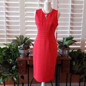 Ivanka Trump red sleeveless dress. Size 8.